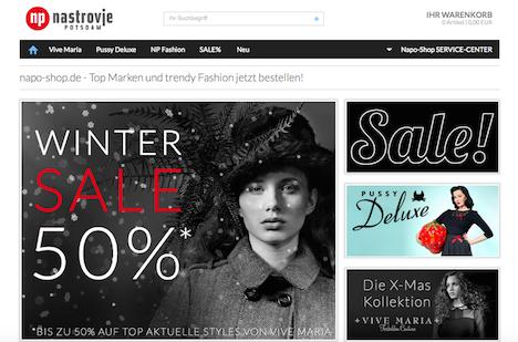 Napo Shop Nastrovje Potsdam Onlineshop Webshop