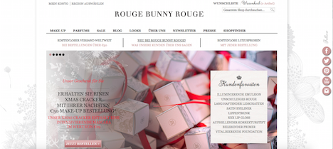 Rouge Bunny Rouge Onlineshop Homepage
