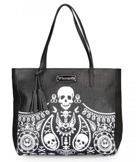 The Studio Deluxe Loungefly Shopper Skull Paisley