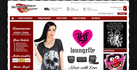 The Studio Deluxe Onlineshop Loungefly