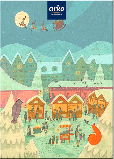 arko Adventskalender Weihnachtsmarkt Pralinen