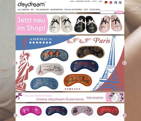 daydream Onlineshop Homepage