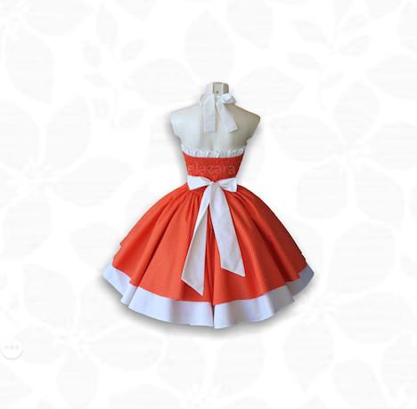 elaZara Petticoatkleid rot mit Punkten 1