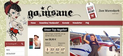 go.insane Onlineshop Webshop