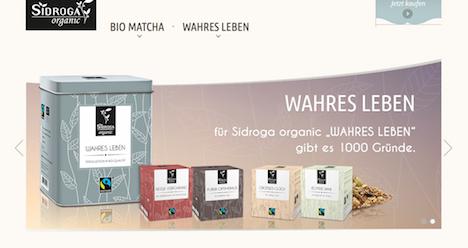 sidroga organic homepage