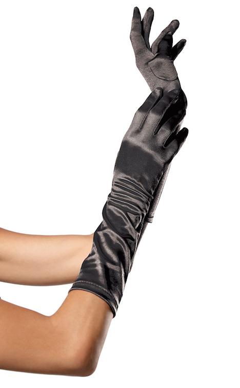 eis.de Burlesque Set Leg Avenue Handschuhe schwarz Satin 006543LA
