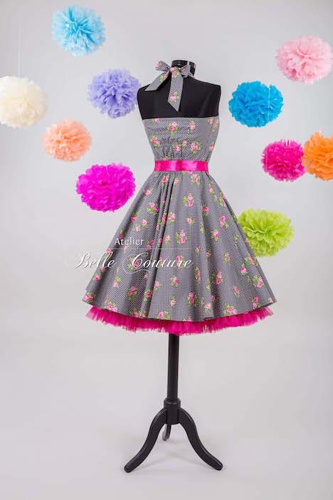 Atelier Belle Couture Petticoatkleid Blumenmuster 2