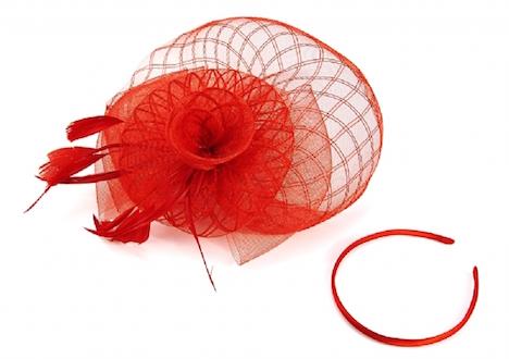 Strawbetty Headpiece rot Kopfschmuck