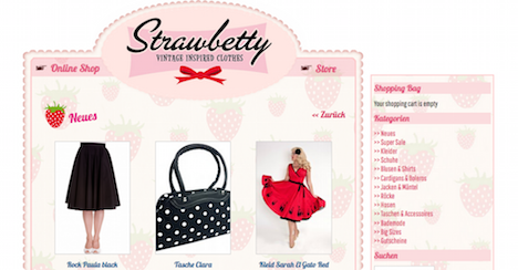 Strawbetty Homepage Onlineshop