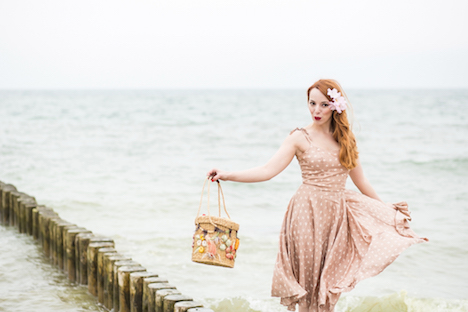 Style of the Week Pinup Model Rina Bambina BTS Nordsee