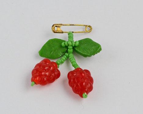 wunder-same vintage Brosche Cherry Kirschen