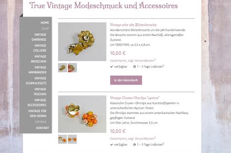 wunder-same vintage Onlineshop Webshop 10 fuer 10