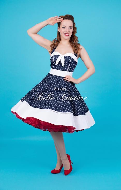 Atelier Belle Couture Matrosenliebe Matrosenkleid Petticoatkleid