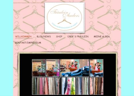 Fraeulein Anders Homepage Onlineshop