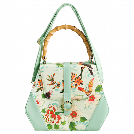 Fraeulein Backfisch banned_butterfly-and-flowers-handbag_green_new_01