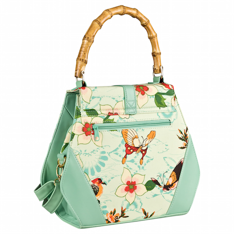 Fraeulein Backfisch banned_butterfly-and-flowers-handbag_green_new_02