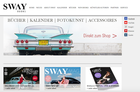 SWAY BOOKS Onlineshop Homepage