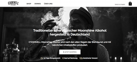 O'DONNELL Moonshine Homepage Onlineshop