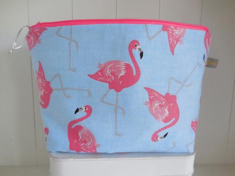 Mrs.Watson grosse Kulturtasche Flamingo