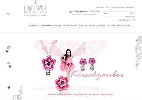 Drachenfels Design Homepage Onlineshop