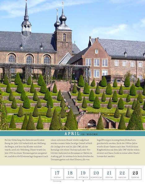 Thorbecke Klostergarten Kalender woche 16