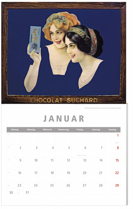 Weltbild Historische Werbeplkata Kalender 2017 5957881_Kalender Werbeplakate Januar