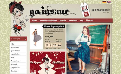go.insane webshop onlineshop