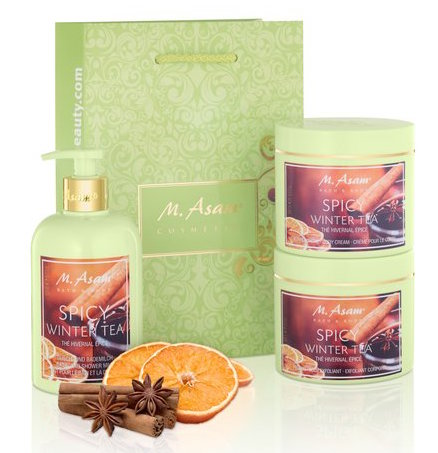 m.-asam-spicy-winter-tea-duschmilch-koerpercreme-peeling-set