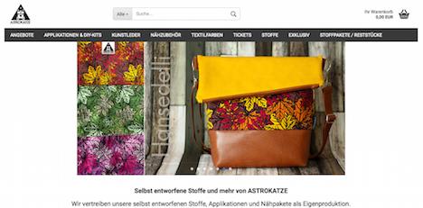 Astrokatze Homepage Onlineshop