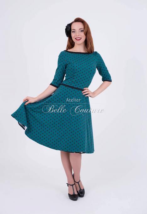 Atelier Belle Couture Jerseykleid Rike Polka Dots 1