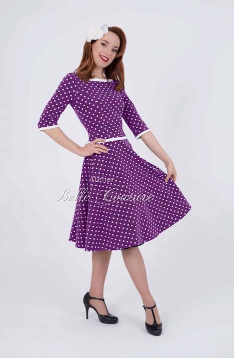 Atelier Belle Couture Jerseykleid Rike Polka Dots 2