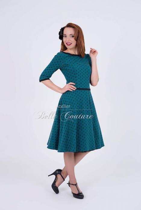 Atelier Belle Couture Jerseykleid Rike Polka Dots 4