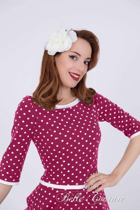 Atelier Belle Couture Jerseykleid Rike Polka Dots 5