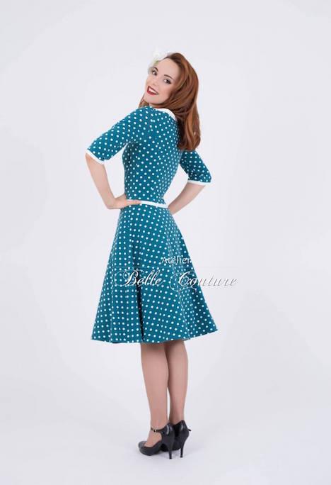 Atelier Belle Couture Jerseykleid Rike Polka Dots 8