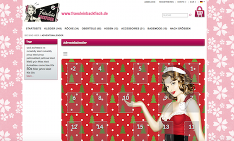 Frl Backfisch Onlineshop Adventskalender