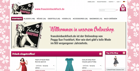 Frl.Backfisch Onlineshop Webshop Vintage Fashion