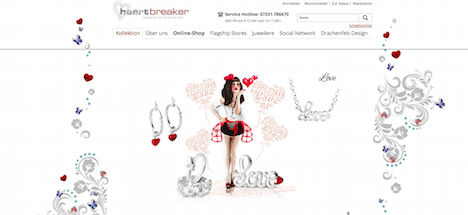 Heartbreaker Onlineshop Homepage