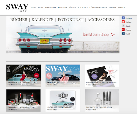 SWAY BOOKS Homepage Webshop