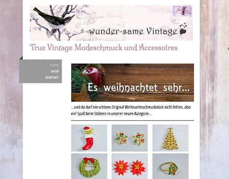 wunder-same vintage Onlineshop Homepage