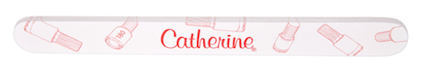 Catherine Nail Collection bottle-print-feile-seite-rot