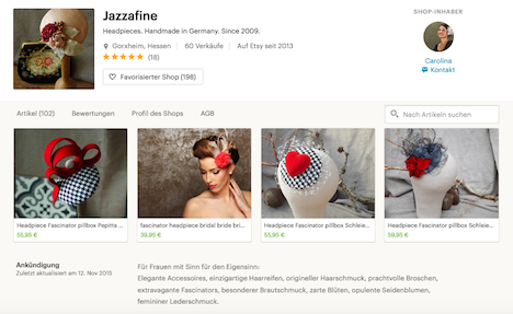 Jazzafine Etsy Shop