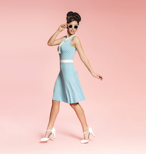 Candy Love Collar Dress lightblue Kopie