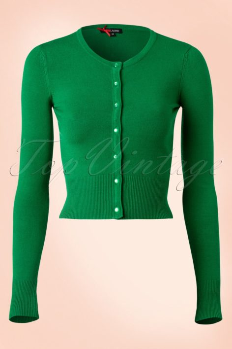 50s Paloma Cardigan in Green
