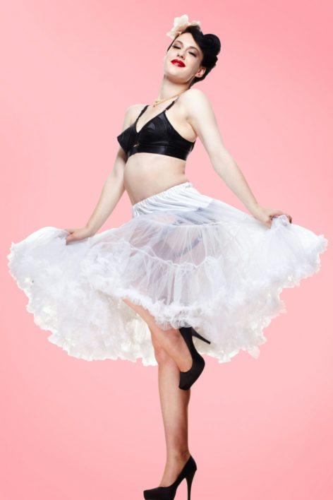 50s retro Petticoat chiffon white