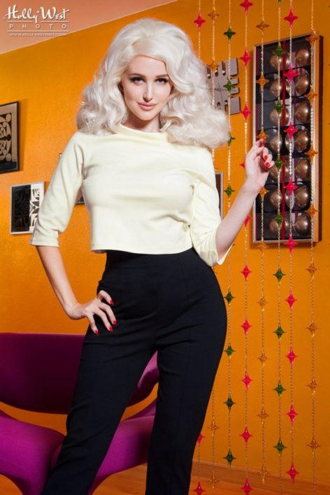 60s Laura Byrnes California Jane Top in Ivory