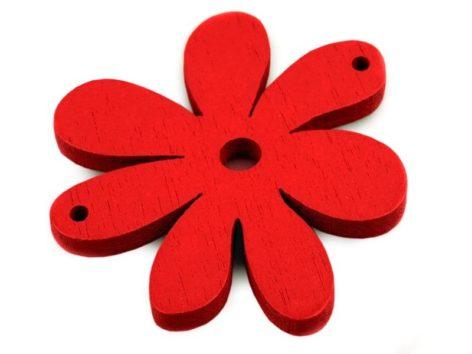 10 Blumenanhänger aus Holz, 35 x 40 mm, rot