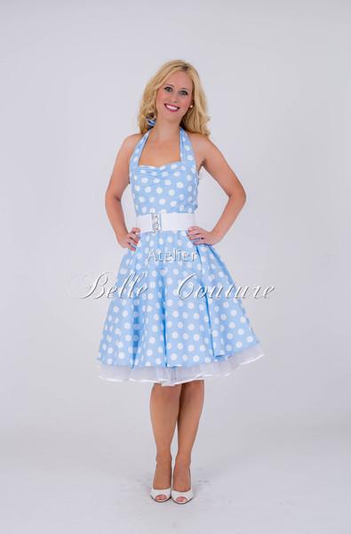 1950s Petticoat Kleid Bubblegum hellblau