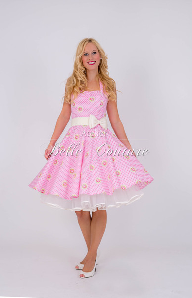 1950s Petticoat Kleid Candy Rose pink II