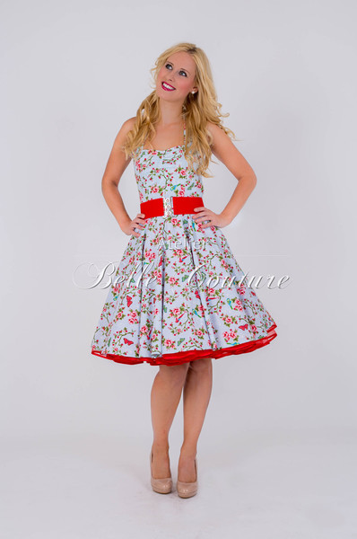 1950s Petticoat Kleid Sweet Daisy Bird