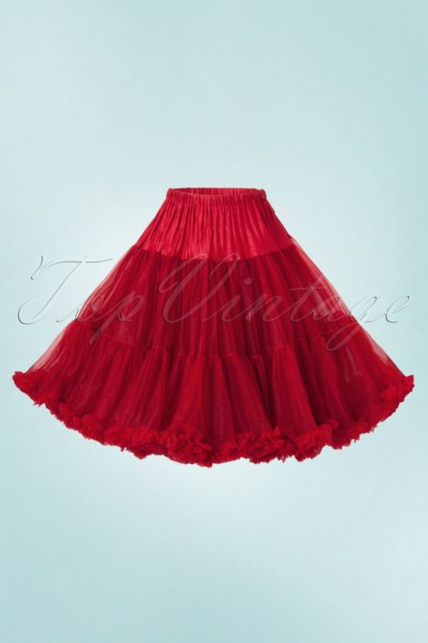 50s retro Petticoat luxurious chiffon red